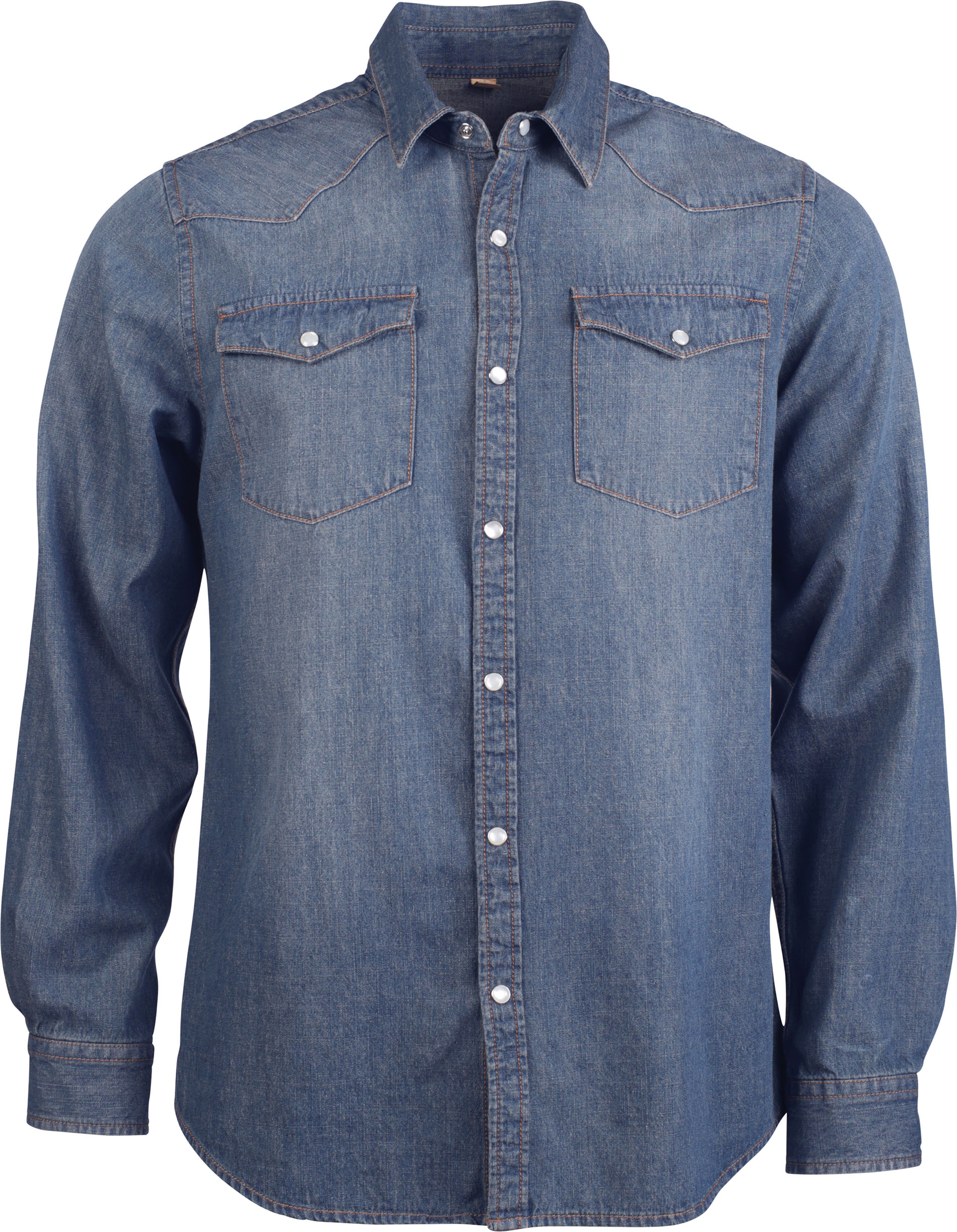 Denim Overhemd Heren.Heren Denim Overhemd Lange Mouwen Publi All